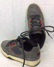 Vans Reid Gray Suede Skate Board Sneaker Casual Shoe Oxford 9.5 USA 42.5 EUR