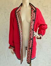 NWT KOOS OF COURSE 2X Reversible Jacket Red Print Art to Wear QVC Plus Size
