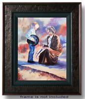 Boy and Girl impressionist Original Oil Painting Idkowiak 12 x16