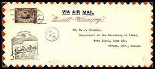 CANADA BISSETT MAN FIRST FLIGHT TO WINNIPEG MAN ARRIVAL DECEMBER 11 1934 COVER