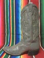Hondo cowboy western boots .. gray leather .. Men's 10 B