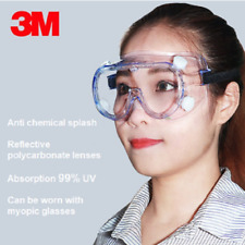 3M Safe Lab Glasses Protective Eye Goggles Chemical Eyewear Anti-Fog