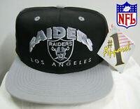 NEW VINTAGE 1990's #1 APPAREL SNAPBACK HAT CAP NFL LOS ANGELES RAIDERS USA RARE