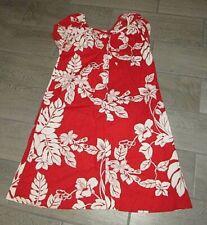 VINTAGE HILO HATTIE Sz M Muu Muu Red White House Dress