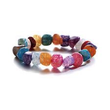 Fashion Women 7 Chakar Bead Natural Stone Irregular Bracelet Bangle Yoga Jewelry