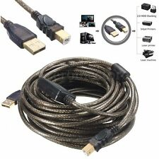 10m USB 2.0 A to B Active Repeater Extension Printer Cable Lead High Speed