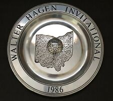 """1986 Walter Hagen Invitational 10.5"""" Pewter Collectible Plate"""