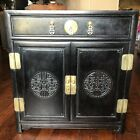 Antique 1930s Chinese Hand Carved Painted Rosewood Chest Drawer