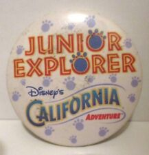 Disney California Adventure Junior Explorer Metal Pin Back Button Disneyland