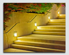 Light up Walking up Steps Canvas with LED Lights -  Perfect Gift - 12x16 inch