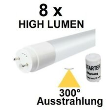 8 x 18 Watt LED-Röhre T8 / G13 120 cm, Kaltweiß, 2380 Lumen = 45 Watt Neonröhre