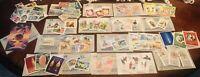 84 Stamps Jamestown Stamp Co Maldive China USA Grenada Poland Russia Romania etc