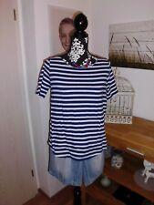 T-Shirt Ringelshirt Longshirt blau weiß gestreift Esprit Gr. S 36 38