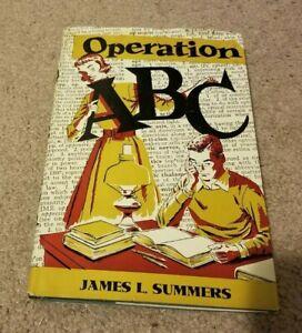 SIGNED 1st 1950 OPERATION ABC James L Summers High School Teen Fiction  hc/dj
