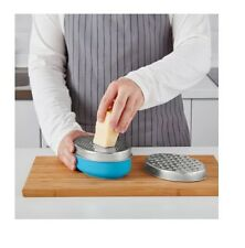IKEA CHOSIGT Stainless Steel Blue Grater with Container for Storing Cheese