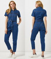 Dorothy Perkins New Womens Dark Wash Blue Denim Boiler Suit Jumpsuit 8 to 22
