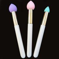 Kit 3x pennello spugna pennelli applicatore trucco make-up base fondotinta blush