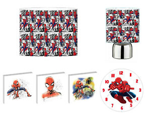 SPIDERMAN - choose from LIGHTSHADE,TOUCH LAMP, CLOCK, WALL ART OR BUNDLE
