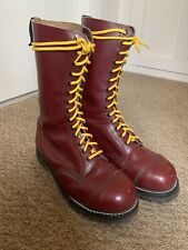 Dr Martens 1914 Vintage Oxblood Cherry 14 Hole Boots Size 8 Made In England