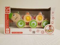 Walk-A-Long Caterpillar Wooden Pull Toy toddler baby child hape 12 months and up