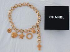 CHANEL GOLD CHAIN BELT WITH CHARMS - 1992 CHANEL CRUISE COLLECTION -VERY RARE