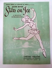 1943 Sonja Henie STARS ON ICE Second Edition ROCKEFELLER CENTER Souvenir Program