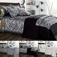 3 PCs Quilted Jacquard Bedspread Comforter Bed Throw + Pillow Shams Bedding Set