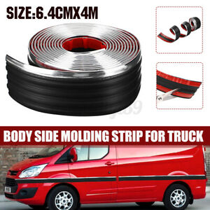 6.4cmx4m Body Side Molding Strip Belt Exterior Protector Roll For Pick up
