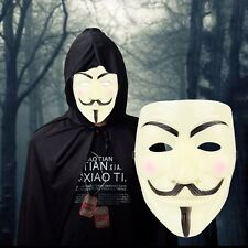 MASQUE V POUR VENDETTA - ANONYMOUS - GUY FAWKES - DÉGUISEMENT ADULTE NEUF 48h