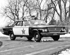 Vintage POLICE CAR Photo Picture 1963 Chrysler Newport Cop Cruiser Print 8x10