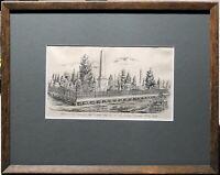 Francis Wilson Niven (1831–1905) Original Lithograph Eureka Stockdale Ballarat