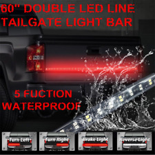 """60"""" Dual Colors LED Flexible Truck Tailgate Light Turn Signal Brake Reverse Lamp"""