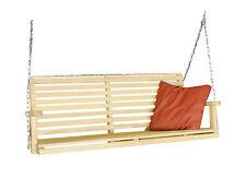 "Classic Patio Garden Treated Yellow Pine Amish Swing Contoured Seat W/ 9"" Chain"