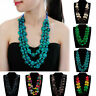 Style Chunky Ladies Bohemian Vintage Necklace Boho Pendant Beads Layered Tribal