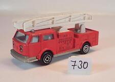 Majorette 1/100 Nr. 207 Pompiers Feuerwehr Leiterwagen #730