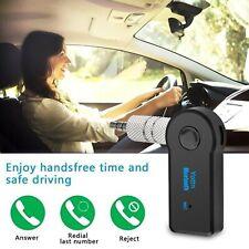 KIT VIVAVOCE Per Auto FM MP3 Aux 3.5mm BLUETOOTH trasmettitore per Altoparlante