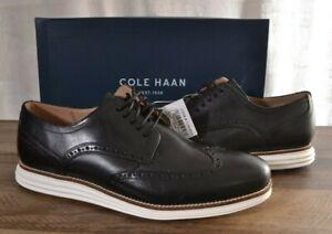 Cole Haan Men's Original Grand Swing Wingtip Oxford Shoe 11 MED Black/White