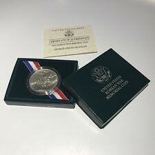 1991-D $1 Korean War Memorial Business Strike Silver Dollar w/Box + COA