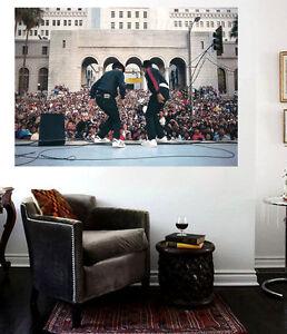 RUN DMC Live Canvas Print Downtown LA 30 x 20 Old School Hip Hop Live show