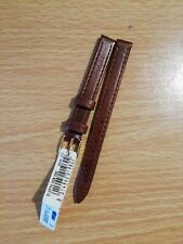 Ladies MORELLATO 10mm Italian Brown Lambskin Watch Strap, 10mm G/P Buckle
