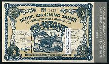 Greenland 2018 MNH Old Greenlandic Banknotes 1v M/S I Deer Moose Stamps