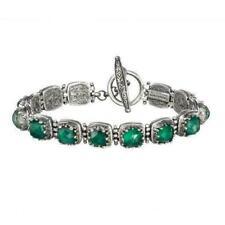 Gerochristo Bracelet Byzantine Sterling Silver & Malachite Doublet.