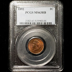 1892 Indian Head Cent 1C - PCGS MS 63 RB - No Reserve