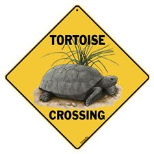 Tortoise Crossing Sign NEW 12X12 Metal Reptile Turtle