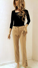 MARCCAIN Damen Hose Jeans Baumwollmischung N1 34 XS Camel Stretch 7/8