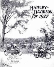 1927 HARLEY-DAVIDSON BROCHURE - Antique Reproduction