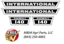 Farmall 140 Tractor hood decal set IH International Harvester Farmall Tractor