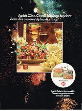 PUBLICITE  1974    APERIT-CUBE   LA VACHE QUIT RIT  fromage apéro fondant