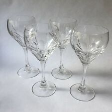 Spiegelau Fine Crystal Wine Glasses Stradivari Vintage Lot of 4 Rare