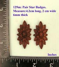 """129M """"2 badges"""" clock case / furniture DIY"""